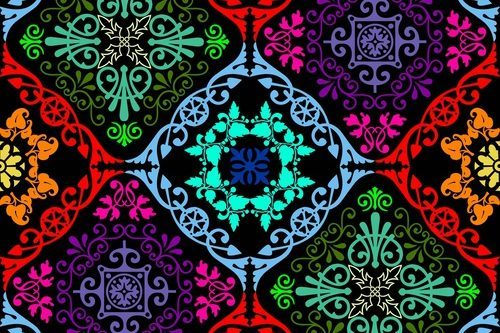 Fluorescent seamless tapestry