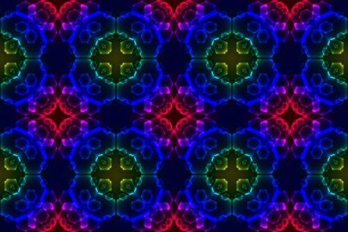 new abstract image with kaleidoscope style ornament can use like